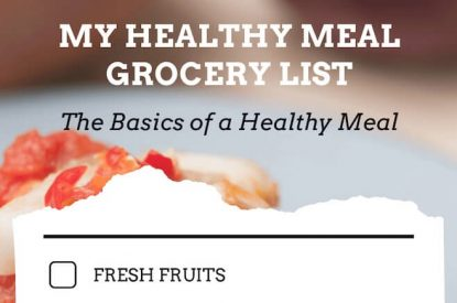 Healthy Meal Grocery list