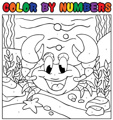Color by Numbers CRAB FREE printable